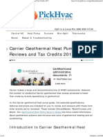 Carrier Geothermal Heat Pump Prices, Reviews and Tax Credits 2017