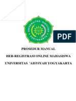 Prosedur Her Registrasi on Line Mahasiswa Semester Genap TA 17 18