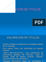 Tema 5 - Valoracion de Titulos