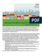 National Recovery Residence Quality Standards Oct 7 2015