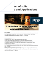 Limitation of Suits ,Appeals and Applications – My Blog