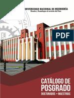 Catalogo de Posgrado-UNI 2017