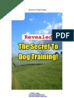 Secret to Dog Training