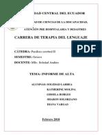 Informe de Alta Jorge