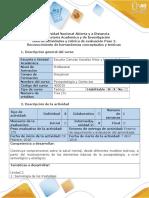 Guía de Actividades y Rúbrica de Evaluación Del Curso Paso 2- Reconocimiento Herramientas Conceptuales y Teóricas