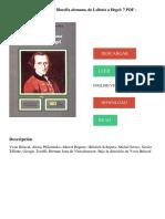 """Belaval, Y. (1977). """"Historia de la filosofía"""". La filosofía alemana de Leibniz a Hegel, vol. 7. México- Siglo XXI Editores."""