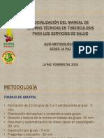 Guía Metodológica de Socializan  del Manual de normas técnicas en Tuberculosis 2017