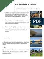 5 Lugares Turisticos de Guatemala