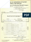 Dyar Miller's 1970 contract and letters