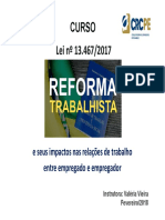 CURSO - Reforma Trabalhista (CRCPE.2017)Arcoverde .Ppt
