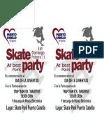 Panfleto Skate Party