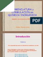 Clase n°3 Nomenclatura Inorgánica