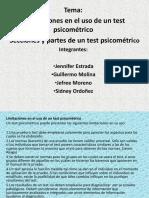Limitaciones y Partes de Un Test