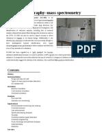 [00] [Wikipedia] Gas Chromatography–Mass Spectrometry