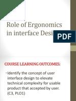 Role of Ergonomics in Interface Design