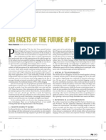 Six Facets of the future of PR