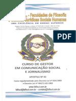 Gestor Em Com. Social e Jornalismo