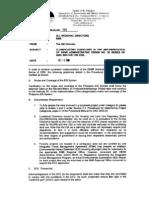 MC 2006-005 - Clarification on DAO 2003-30 Manual