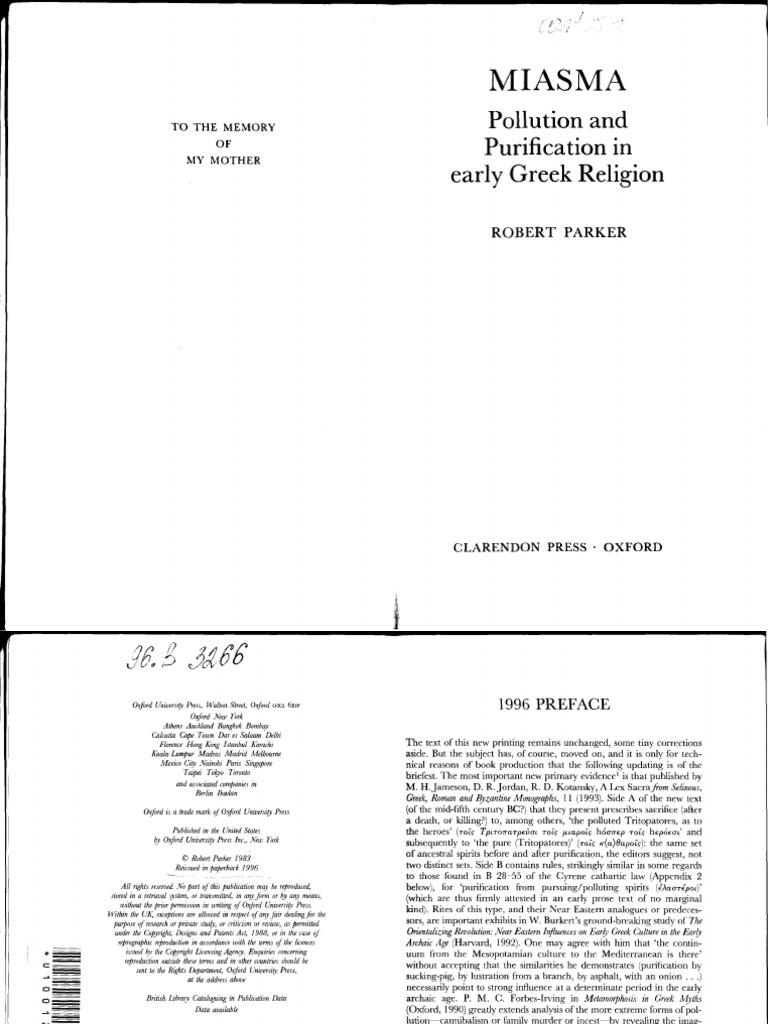 Robert Parker Miasma Pollution And Purification In Early Greek 1949 51 Fountain Pen Diagram Gift Set Photo Vintage Print Religion 1996 Clarendon Presspdf License Copyright