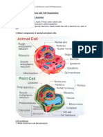 Form 4 Biology Chapter 2 Cell Structure Cell Organisation