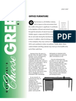 Green Seal Specs for Office Furniture
