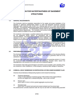 WTB_Specification for Watertightness of Basement Structures