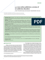 2016 Social Networking, A New Online Addiction a Review of Facebook and Other Addiction Disorders