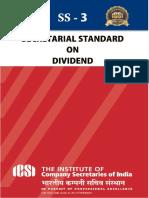 Secretarial Standards on  Divided