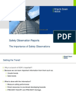 Safety Observation Reports