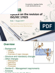 T102 - Update on the Revision of ISO 17025
