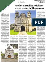 Huellas Del Pasado Inmuebles Religiosos Que Perduran en El Centro de Tlayacapan