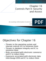 Chapter 16 IT Controls Part II Security and Access
