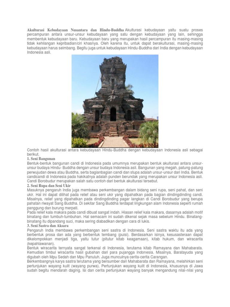 Akulturasi Kebudayaan Nusantara Dan Hindu Docx