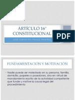 Artículo 16° Constitucional