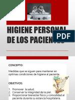 1.1.5 Higiene Personal de Los Pacientes