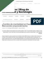 ¿Cambio de Mentalidad en España_ Bienvenido Emprendimiento