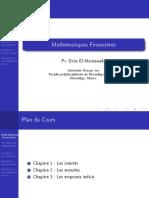 Cours Math Fin - Pr El Moutawakil