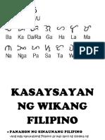 Kasaysayan Ng Wikang Filipino