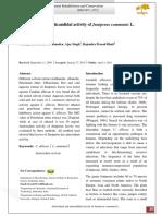 Antioxidant and Anticandidal Activity of Juniperus Communis L.