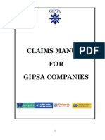 Claims Manual for Gipsa Companies