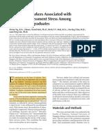 Salivary Biomarkers Associated With Academic Assessment Stress Among Dental Undergraduates
