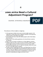 Does Africa Need a Cultural Adjustment Program?