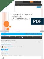 Www Slideshare Net RahulKaurav Services Marketing Triangle q
