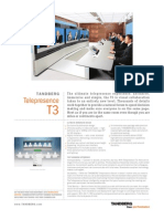 Telepresence t3 Product Sheet