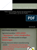 Definisi-Definisi Waktu Untuk Industri