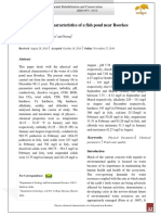 Physico-chemical Characteristics of a Fish Pond Near Roorkee