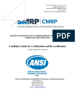 CMRP Candidate Guide for Certification and Recertification