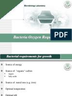 Bacteria Oxygen Requirment