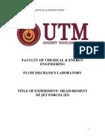 E5 Lab Sheet Measurement of Jet Forces
