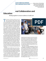 Interprofessional Collaboration and Education.26